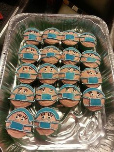 Scrub. Tech. Week cup cakes! I love my techs!