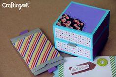 Craftingeek*: Tarjeta *Pop* Explosiva - Rubber band Scrapbook DIY