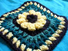 Flower Granny Square - Meladoras Creations Free Crochet Patterns & Tutorials
