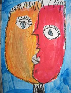 "You may have noticed that I love to do different versions of cubist self portraits or ""Picasso faces."" What a treat it was t..."