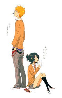 Kurosaki Ichigo & Kuchiki Rukia   Bleach #manga