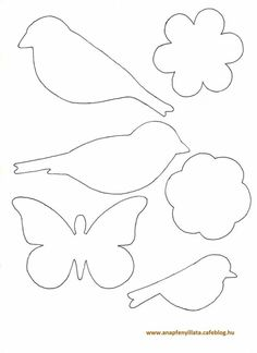 Awesome classroom decoration ideas for grade 3 Felt Crafts, Easter Crafts, Diy And Crafts, Crafts For Kids, Arts And Crafts, Bird Template, Flower Template, Felt Patterns, Applique Patterns