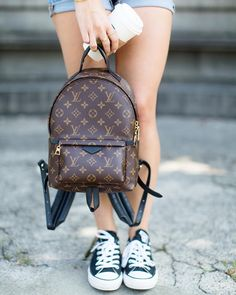 All eyes on 2017 Louis Vuitton palm spring PM backpack. @louisvuitton #LouisVuitton #BackpackMini