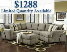 Looking to create a warm and welcoming living room that everyone can enjoy? Then look no further than the Vail sectional and ottoman. Adorned in the soft platinum fabric material, this sectional sofa is large and in charge. Sporting a unique curved L Curved Sectional, Sectional Ottoman, Cuddler Sectional, White Sectional, Grey Couches, Living Room Sofa, Living Room Furniture, Living Room Decor, Coastal Living Rooms