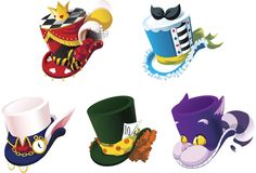Ikoniske hatte til forskellige karakterer