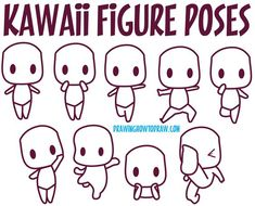guide to drawing kawaii characters part 1 how to draw kawaii people expressions faces body poses is part of Chibi drawings - Guide to Drawing Kawaii Characters Part 1 How to Draw Kawaii People, Expressions, Faces, Body Poses artReference Inspiration Chibi Kawaii, Kawaii Doodles, Anime Kawaii, Chibi Base, Painting & Drawing, Drawing Body Poses, Drawing Faces, Body Sketches, Figure Poses