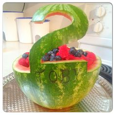 2 year old party watermelon fruit yummy
