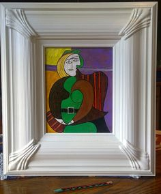 Framed Picasso Painting. Hand Painted Copy by RosanneHillFineArt