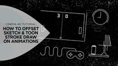 How to Offset Sketch & Toon Stroke Draw On Animations in Cinema on Vimeo Cinema 4d Tutorial, Animation Tutorial, 3d Tutorial, Digital Cinema, Mo Design, Character Design Animation, Motion Design, Design Tutorials, Line Art