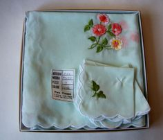 Vintage Pure Cotton Muslin Luncheon by MargsMostlyVintage on Etsy, $35.00