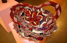 Amazing heart shaped design with Anthuriums
