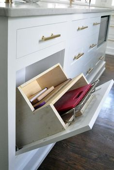 Brass Kitchen Handles - the coolest cupboard/drawer in a kitchen design!