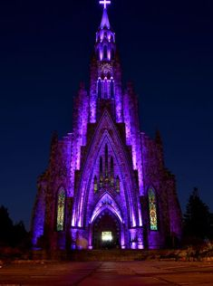 Located in the Brazilian city of Canela, the Cathedral of Our Lady of Lourdes exhibits an English gothic style with a 213-foot-tall tower an...