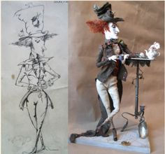 Mad Hatter from a Russian artist, originally found on algulya.livejournal.com