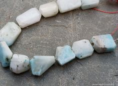 Amazonite Beads Grade A Genuine Natural Gemstone Nugget Shape 6'' Inches Smooth Beads Jewelry Beads Blue Gemstones, Gemstone Beads, Natural Gemstones, Semi Precious Beads, Blue Beads, 6 Inches, Beaded Jewelry, Smooth, Shapes