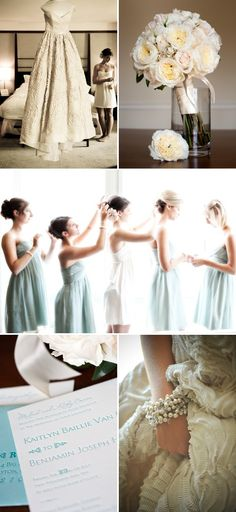 bridesmaid dresses....jcrew...blue or seafoam...what to do?!