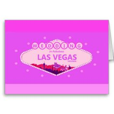 PINK WEDDING In Fabulous Las Vegas Card
