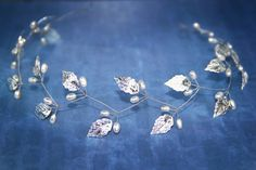 greek crown, gold leaf tiara, crystals tiara, laurel crown, grecian goddess crown, greek tiara, grecian headpiece, bridal halo, leaves tiara  A girl
