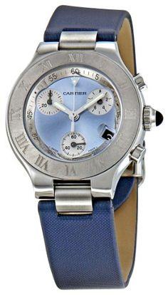 Cartier Women's W1020013 Chronoscaph Blue Sunburst Dial Watch Cartier http://smile.amazon.com/dp/B005N67DJM/ref=cm_sw_r_pi_dp_PohUtb0FK584CCJM