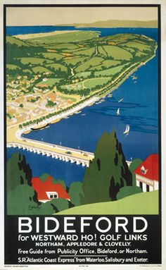 Bideford Railway Poster