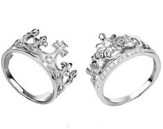 King & Queen ring crown ring setgold crown by UNIQUENEWLINE