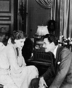 "miss-jitterbug: "" Greta Garbo and John Gilbert on the MGM lot, c. 1926. """