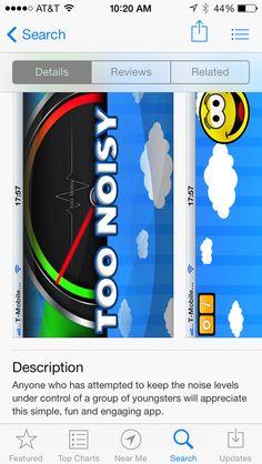 Noise control app , more friendly version
