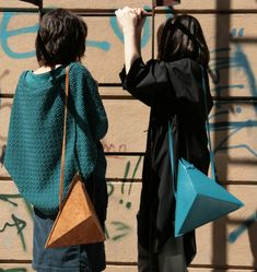 Triangle Bag by IF irinaflorea | minimalist design | https://www.facebook.com/irinafloreadesign/