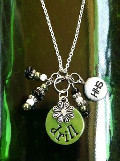 CUSTOM High School Drill Team Charm Necklace on Etsy, $15.00