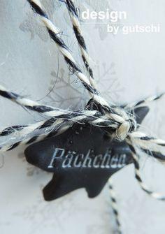 Geschenkanhänger aus Fimo, Weihnachten