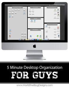 Technology Desktop Organization for Men