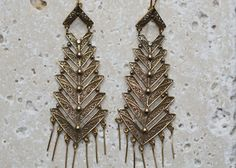 Portuguese PEIXE CASCADE Earrings    gold plated sterling silver