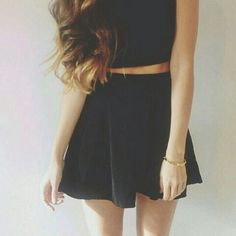 Crop top | Skater skirt | Teen