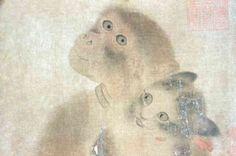 Monkey and Cats, (detail), Yi Yuanji (1000-1064)