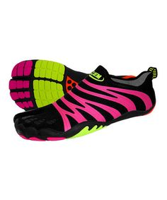 Take a look at this Black & Sherbert Apex Ninja Minimalist Running Shoe - Women by ZEMgear on #zulily today!