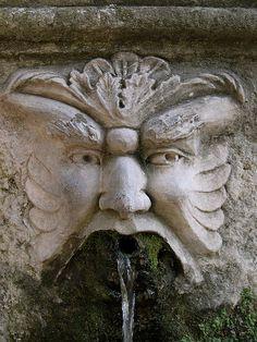 Gargoyle water spout, Villa d'Este by courgettelawn, via Flickr