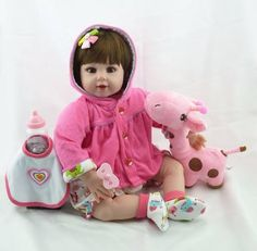 eb186e0a4 Bebê Reborn Amanda Realista 52 Cm - Pronta Entrega bebê