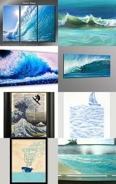 Cool Summer Waves by Sigal Krumer on Etsy--Pinned with TreasuryPin.com