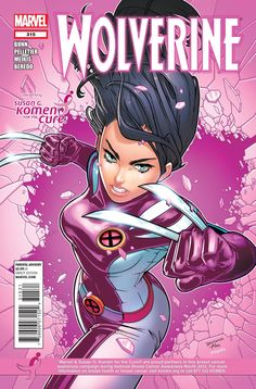 MARVEL AND KOMEN UNVEIL PINK VARIANT COVERS AND ONE PAGE AD FOR EIGHT OCTOBER TITLES: Wolverine