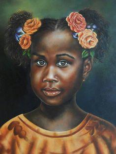 """Piel Morena"" óleo, autor : Maria Noemi"