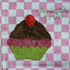 cupcake en appliqué