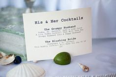 Brides: His and Hers Signature Cocktails