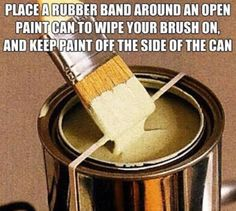 Don't want to get paint all over the bucket