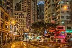 Night at Wan Chai, Hong Kong by John Lam on 500px