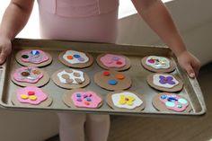 Pretend play-- Cash register -- shop/bakery --- make minnie money and purse cookies - baking/kitchen Beauty salon - makeup, jewellry etc