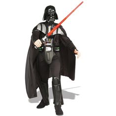 Get our Adult Deluxe Darth Vader Star Wars costume just in time for Halloween this year. This authentic Darth Vader costume will impress any Star Wars fan! Disfraz Darth Vader, Darth Vader Kostüm, Adult Darth Vader Costume, Disfraz Star Wars, Darth Vader Lightsaber, Vader Star Wars, Red Lightsaber, Star Trek, Costume Sith