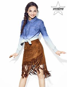 """Maddie Ziegler photographed by Eric Ray Davidson for Seventeen Magazine """