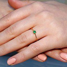 Inel din Aur cu smarald 010Sm