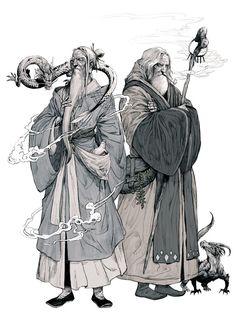 grandpa, by Kyoung Hwan Kim on ArtStation : Fantasy Fantasy Character Design, Character Design Inspiration, Character Concept, Character Art, Concept Art, Dnd Characters, Fantasy Characters, Arte Steampunk, Fantasy Inspiration