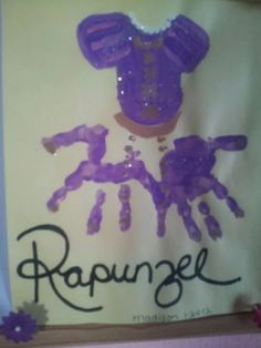 Handprint DISNEY tangled Rapunzel (image only)